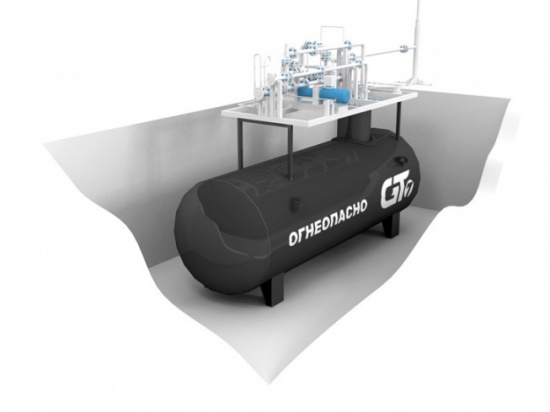 Technological system «KPM GT PD» 1x10, NSV 32 (GT7 production), Corken Z-2000, connected to Fuel Dispenser
